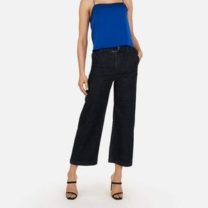 Ann Taylor denim cropped chino jeans size 0